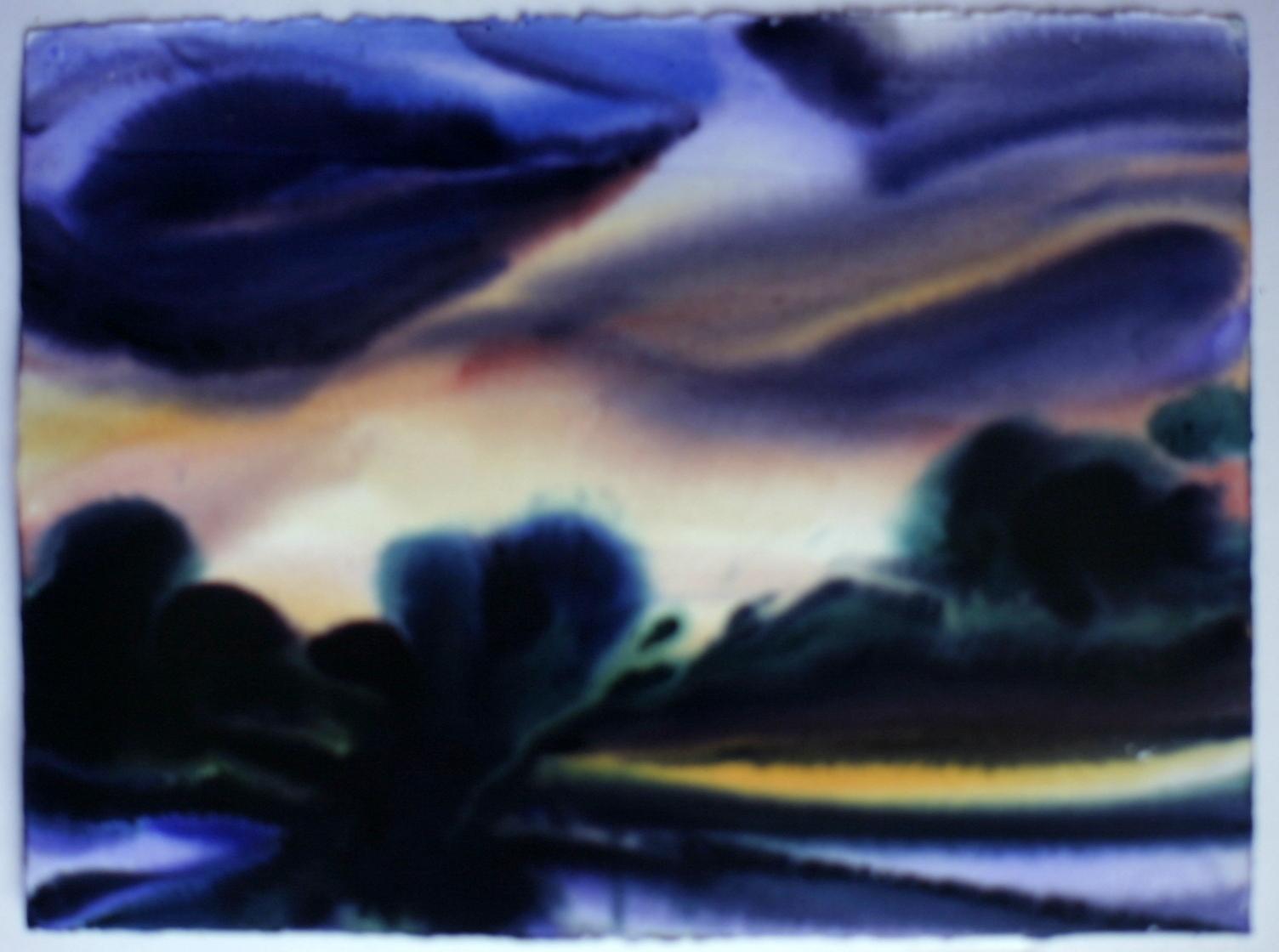 Lost Refuge #1 Watercolor 29 1/2 X 41 1/2